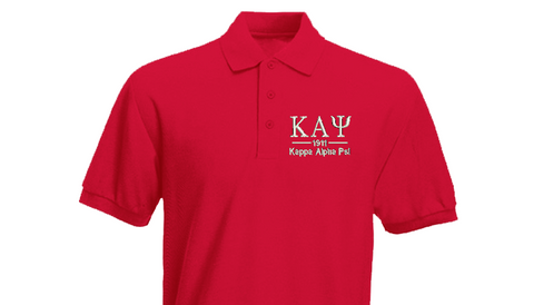 Kappa Greek Letter Polo