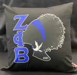 Zeta Silhouette Pillow
