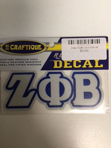 Zeta Reflective Decal
