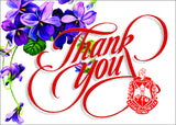 Delta Violet Thank You Card