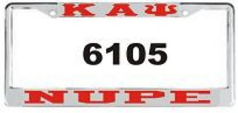 Kappa Nupe Auto Frame Silver/Red