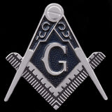 Masonic Square and Compass Silver Auto Emblem
