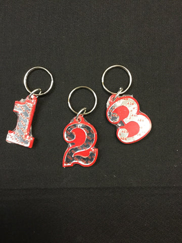 Delta Single Number Keychain