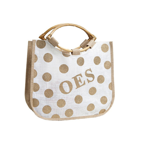 OES Polka Dot Jute Bag