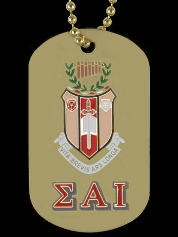 SAI Gold Crest Dog Tag