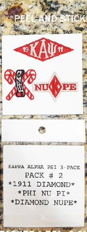 Kappa Embroidered Symbols Stick-On