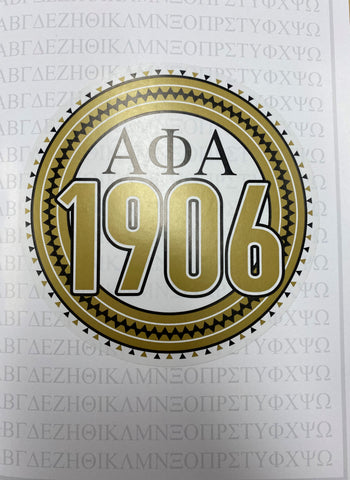 Alpha Greek Card