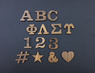 Peel-n-Stick Letters ( 1 in )