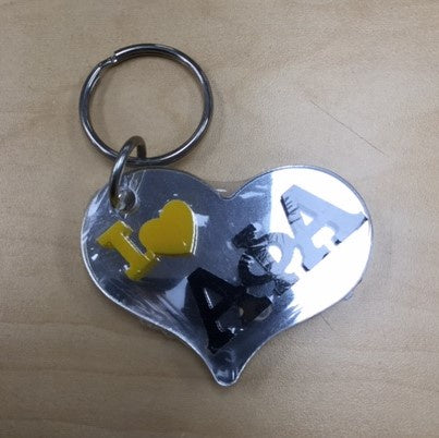 Alpha Heart Shaped Mirror Keychain