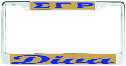 SGRho Diva Auto Frame Gold/Royal – 3 Sisters Embroidery