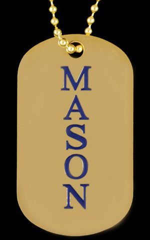 Mason Gold Double Sided Dog Tag