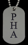 PHA Silver Double Sided Dog Tag