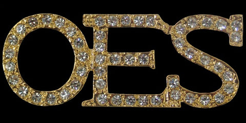 OES Austrian Gold Crystal Pin