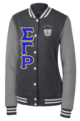 SGRho Fleece Letterman Jacket