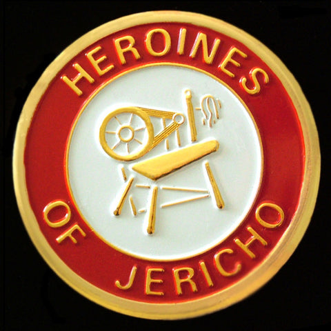 Heroines of Jericho Round Auto Emblem