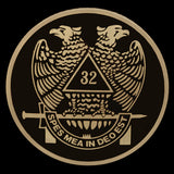 32nd Degree Wings Down Brass Auto Emblem