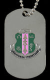 AKA Silver Double Sided Dog Tag