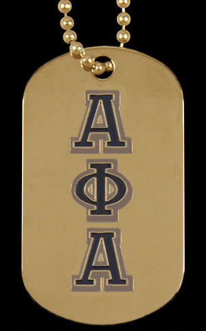 Alpha Gold Double Sided Dog Tag