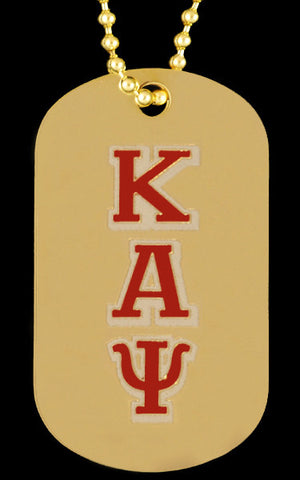 Kappa Gold Double Sided Dog Tag