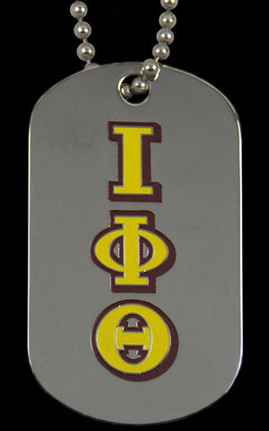 Iota Silver Double Sided Dog Tag