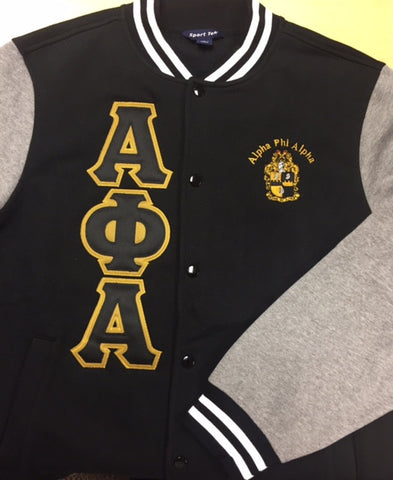 Alpha Fleece Letterman Jacket