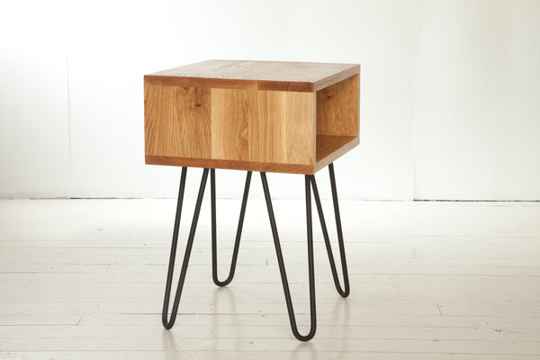 Hairpin Pedestal Side Tables