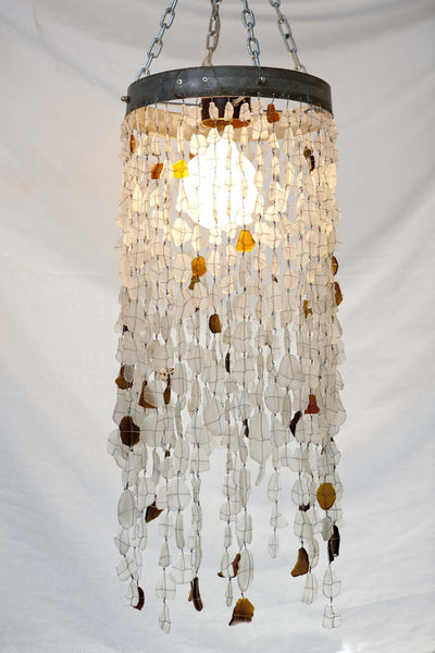 Chandelier - 1 Ring 500 Beads Clear & Amber
