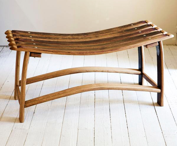 This is a bench made from reclaimed oak. These benches are ideal for your patio or garden and can also be used indoors.