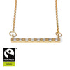 18ct Fairtrade Gold Bar Necklace with Diamonds - Parisi Jewellery  - 1