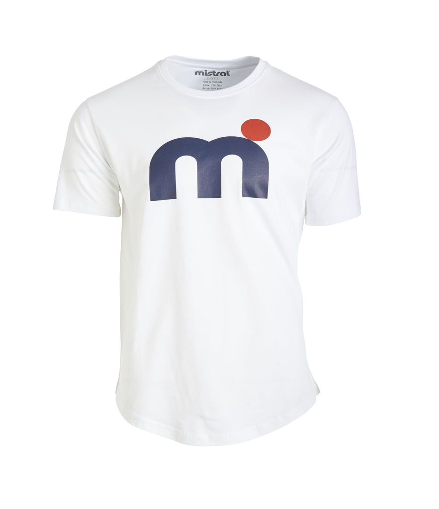 Mistral Tees M-dot junior, navy and white