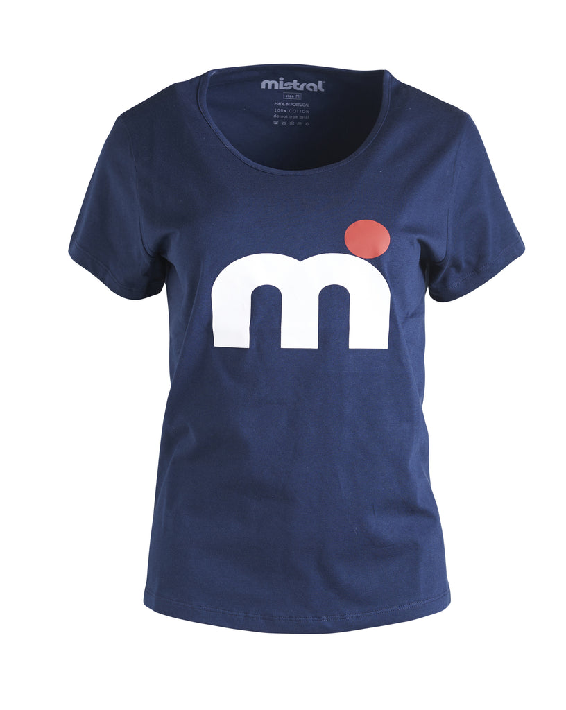 Mistral Tee M-dot ladies navy and white
