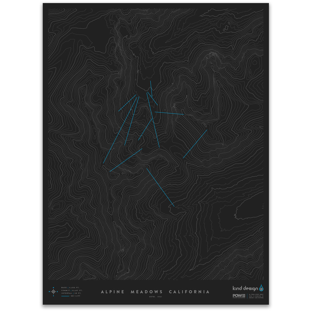 ALPINE MEADOWS CALIFORNIA - TOPO MAP on