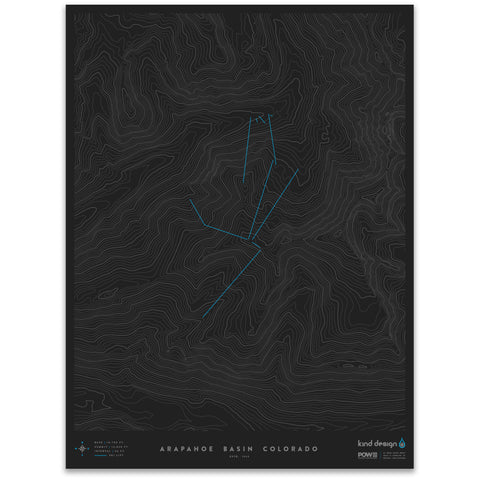 ARAPAHOE BASIN COLORADO - TOPO MAP