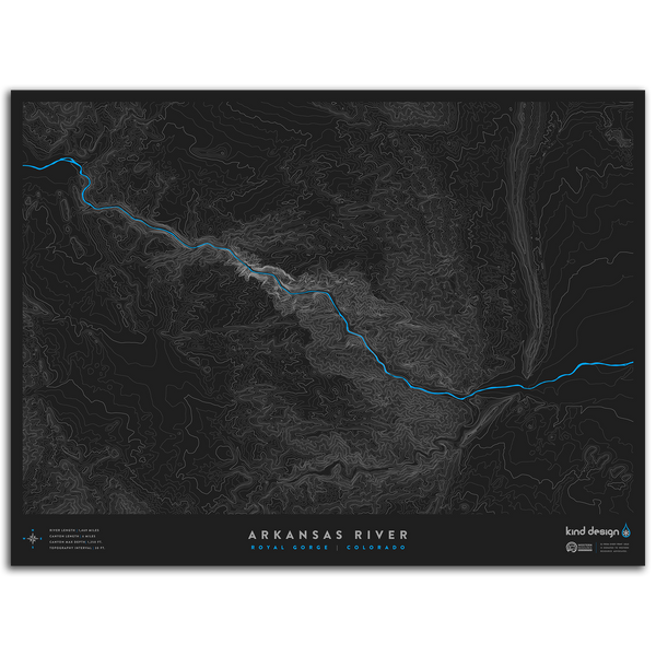 ARKANSAS RIVER TOPO MAP - ROYAL GORGE, CO