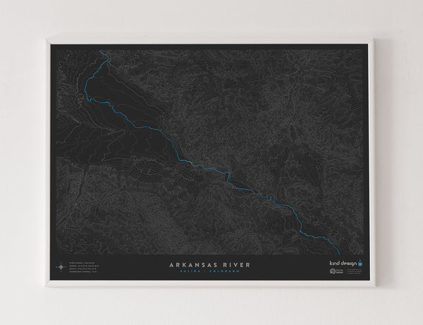 ARKANSAS RIVER TOPO MAP - SALIDA, CO
