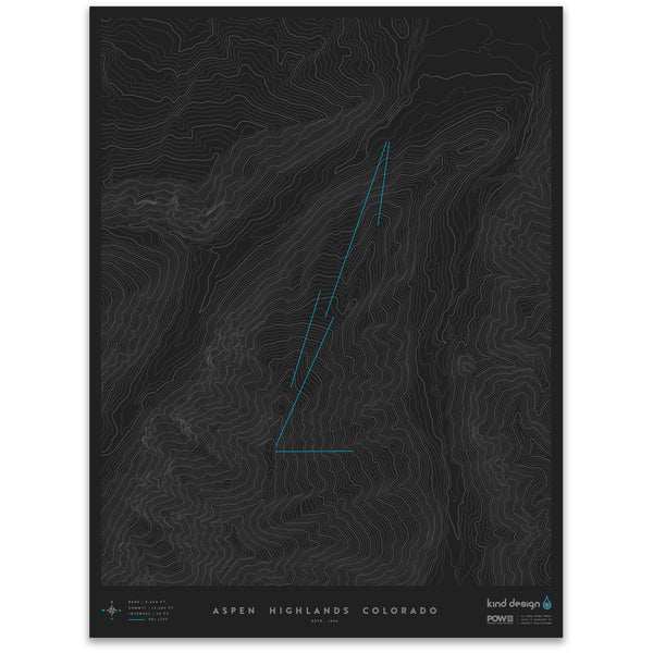 ASPEN HIGHLANDS COLORADO - TOPO MAP