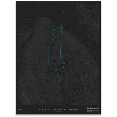 ASPEN MOUNTAIN COLORADO - TOPO MAP