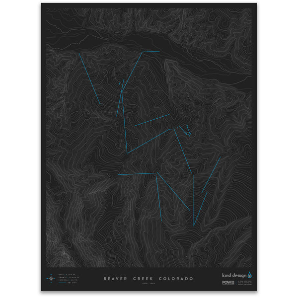 BEAVER CREEK COLORADO - TOPO MAP