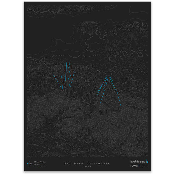 BIG BEAR CALIFORNIA - TOPO MAP