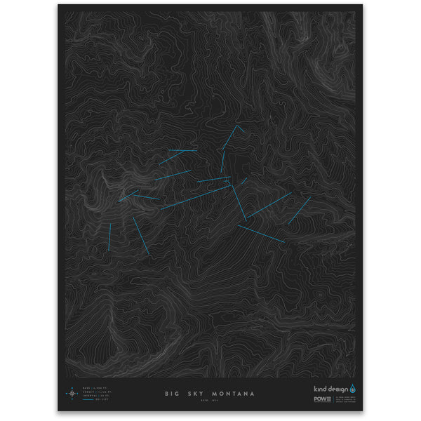 BIG SKY MONTANA - TOPO MAP