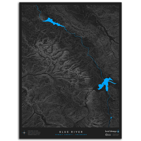 BLUE RIVER TOPO MAP - SUMMIT COUNTY, CO
