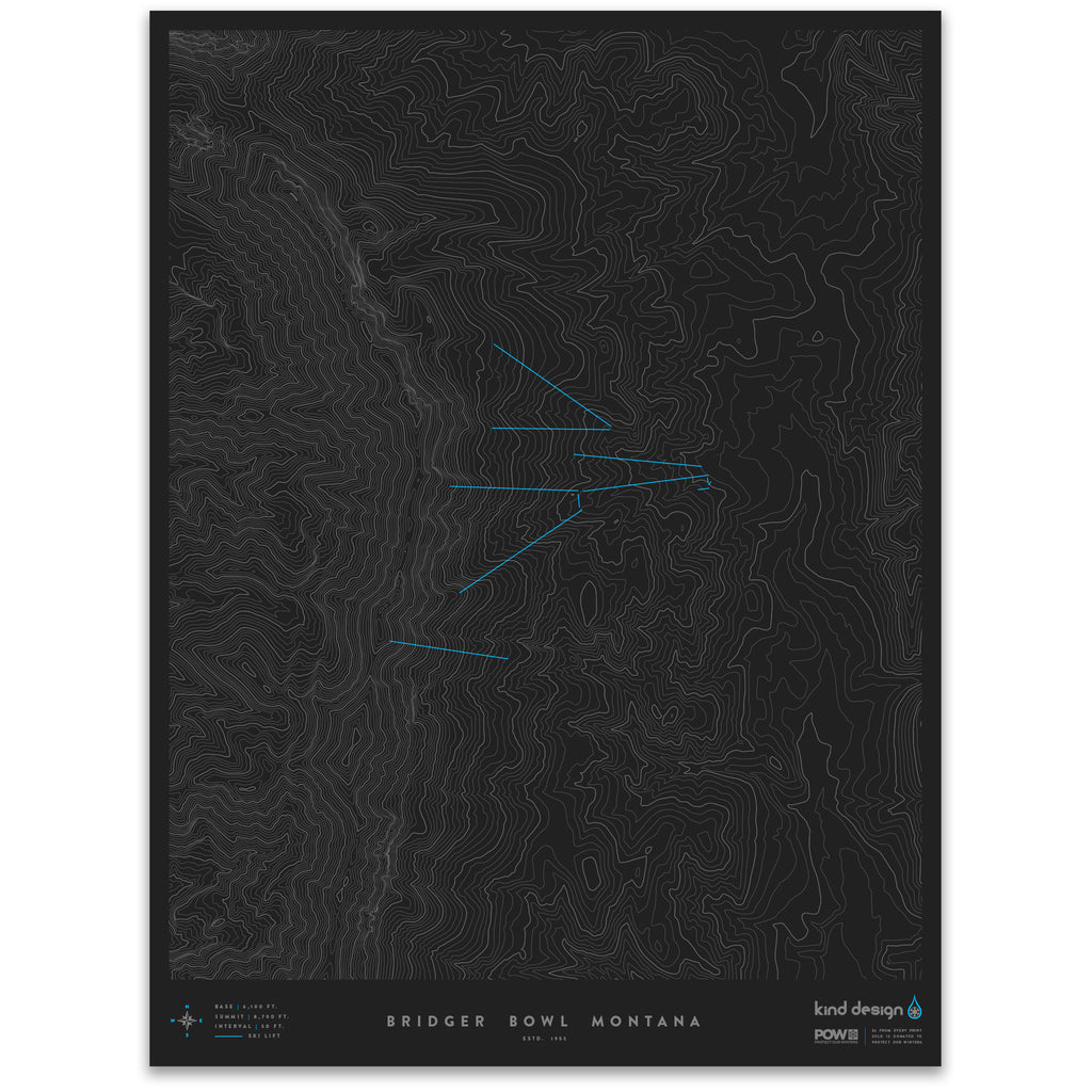 BRIDGER BOWL MONTANA - TOPO MAP