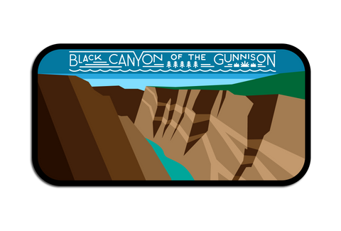 BLACK CANYON OF THE GUNNISON N.P. DECAL