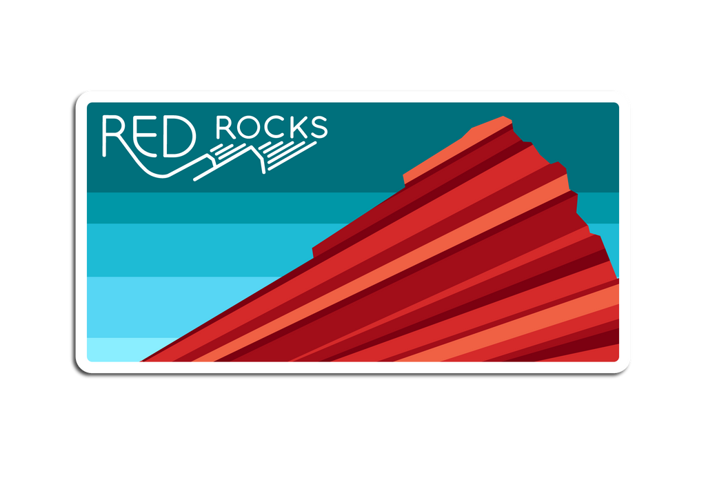 RED ROCKS DECAL