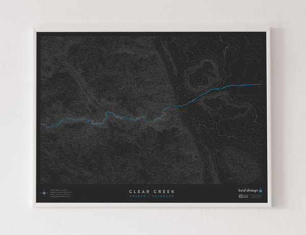 CLEAR CREEK TOPO MAP - GOLDEN, CO