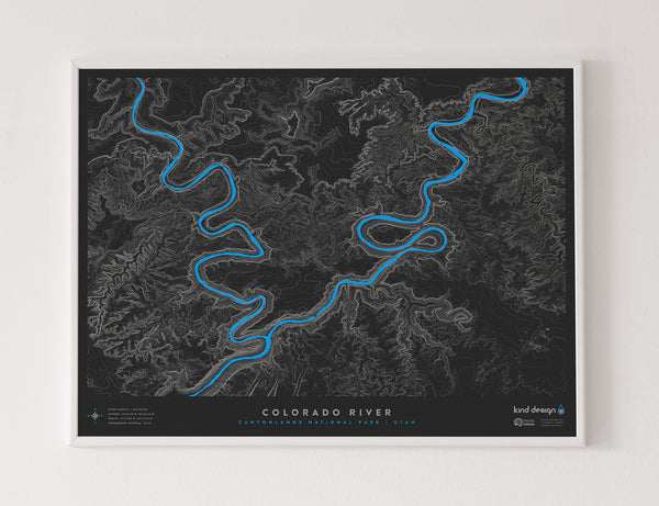 COLORADO RIVER TOPO MAP - CANYONLANDS, UT