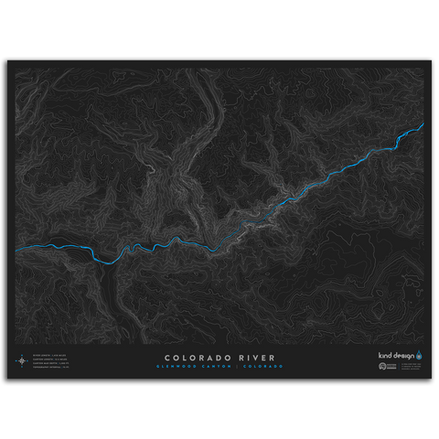 COLORADO RIVER TOPO MAP - GLENWOOD CANYON, CO