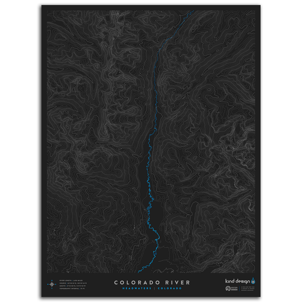 COLORADO RIVER TOPO MAP - HEADWATERS, CO
