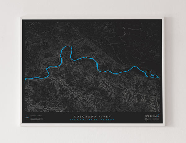COLORADO RIVER TOPO MAP - HORSETHIEF CANYON, CO
