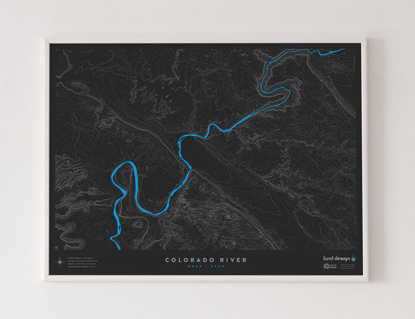 COLORADO RIVER TOPO MAP - MOAB, UT